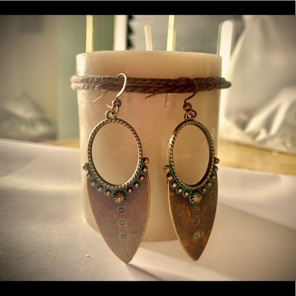 Copper & Teal boho earrings